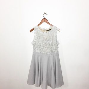 Romeo and Juliet Couture Grey Lace Dress